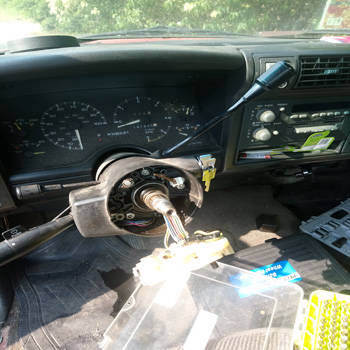 Ignition Switch Replacement 1989 Chevrolet Jimmy Before